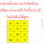 วิธีหาค่าเฉลี่ย ผลรวม น้อยที่สุด มากที่สุด ใน Excel อย่างรวดเร็ว